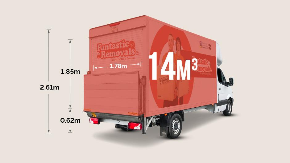 Luton van cargo size - external dimensions