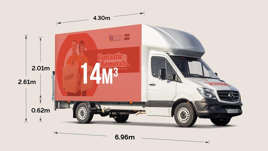 Luton van size - external dimensions