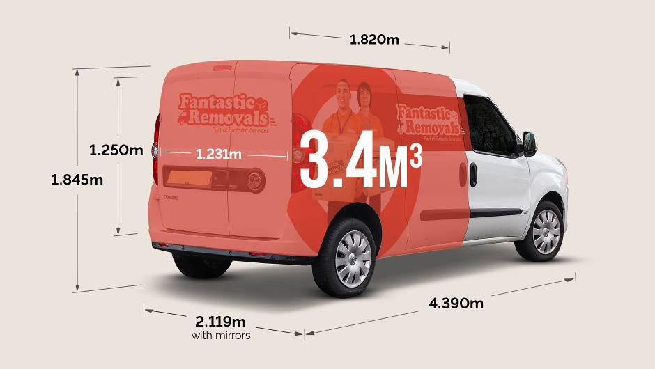 Vauxhall combo cargo size - external dimensions