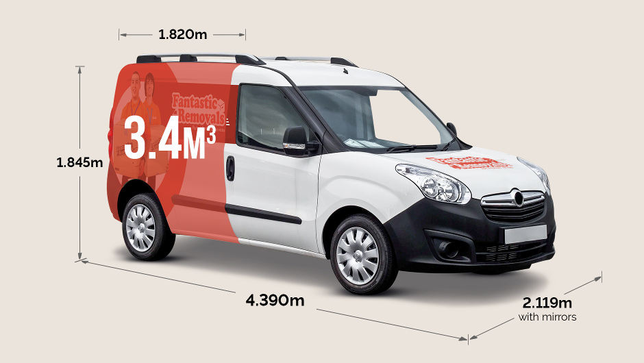 Vauxhall Combi dimensions in meters